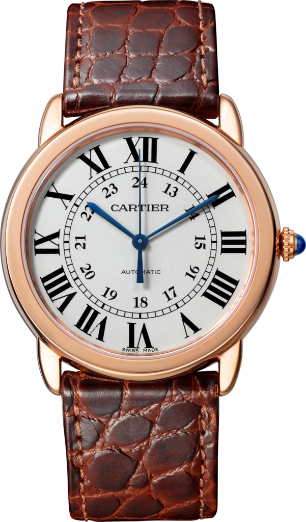Ronde Solo de Cartier watch36 mm, rose gold, steel, leather