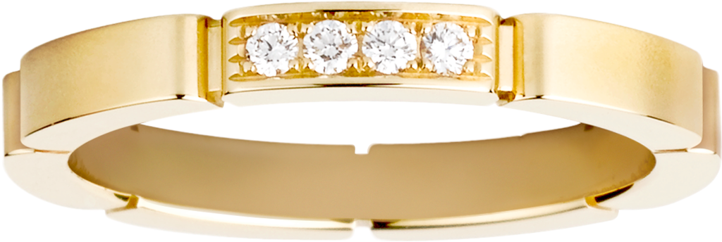 Maillon Panthère wedding ringYellow gold, diamonds