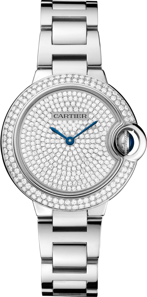 Ballon Bleu de Cartier watch33 mm, 18K white gold, diamonds